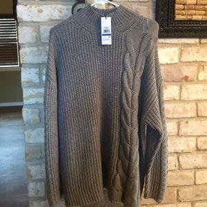 New Calvin Klein chunky knit sweater. XL